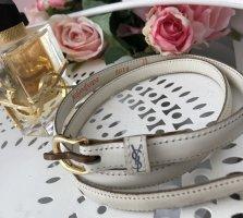 Yves Saint Laurent Cinturón pélvico color oro-blanco puro