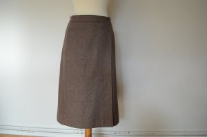 Yves Saint Laurent Falda cruzada marrón grisáceo-marrón claro Lana