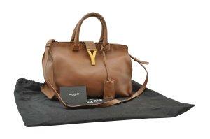 Yves Saint Laurent Bolsa de hombro marrón Cuero