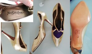 Yves Saint Laurent YSL Pumps, Gold, Gr. 37