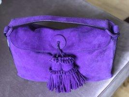 Yves Saint Laurent YSL Tasche aus lila Veloursleder