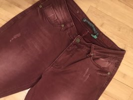 Zabaione Stretch Jeans bordeaux-dark red cotton
