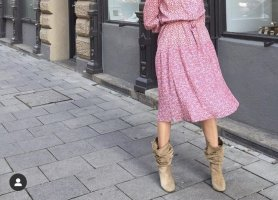 Zara Stivale western multicolore