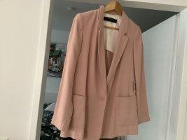 Zara Boyfriend blazer stoffig roze