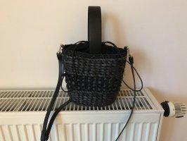 Zara Bolso tipo cesta negro