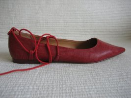 zara ballerinas gr. 38 neu spitze rot