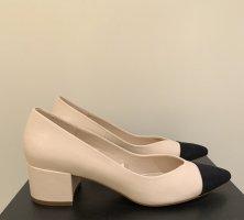 Zara Basic Escarpin compensé beige clair-noir