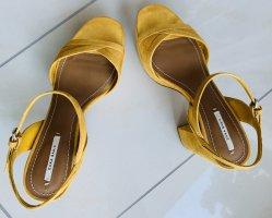 Zara Trafaluc Buty na platformie bladożółty