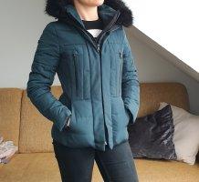 Zara Basic Daunenjacke grün outerwear winterjacke