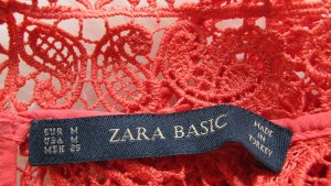 ZARA Basic Kleid Spitze Koralle Gr. M / S  wNEU