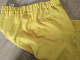 Zara Basic Pantalon à pinces jaune-jaune fluo polyester