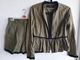 Zara Basic Set Blazer Bundfaltenshorts