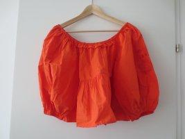 Zara Bauchfrei, Bluse, Gr. S/36, orange, große Ärmel, NEU mit Etikett