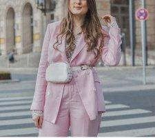 Zara Riñonera blanco tejido mezclado
