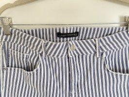 ZARA blau/weiß gestreifte cropped Jeans