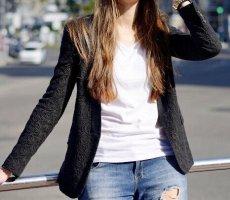 Zara Blazer Jacket schwarzer Spitzen Blazer Business Blazer Klassischer Blazer Classic