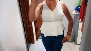 Zara Blusa bianco sporco