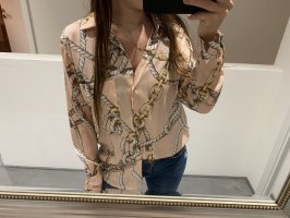 Zara Bluse S 36 rosa mit Muster Blogger instyle