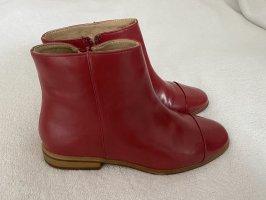 Zara Chelsea Boot rouge foncé