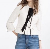 Zara Tweed Blazer multicolored