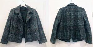 Zara Boxy Checked Wool Coat