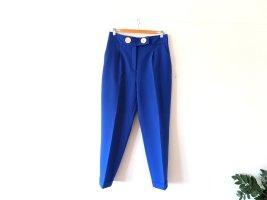 Zara Bundfaltenhose Anzughose Gr. L 40 Chino blau royalblau highwaist