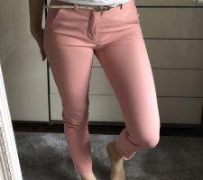 Zara Bundfaltenhose in rosa, Gr. 34