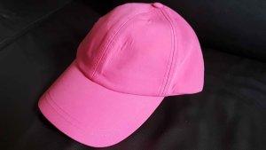 Zara Basic Baseballówka różowy Bawełna