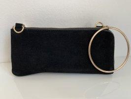 Zara Bolso de mano negro-color oro
