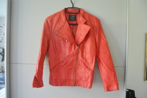 zara Collection rote kunstleder Jacke XS