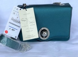 Zara Crossbody Bag with Interchangeable FLAP Petrol -Blue