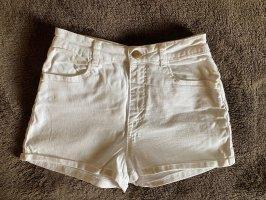 Zara Damen Jeans Shorts weiß 34