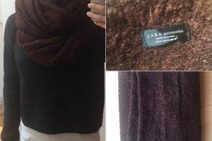 Zara Bufanda de lana coñac