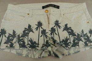Zara Shorts blanco-verde oscuro Algodón