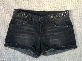 ZARA Denim Shorts Hoptpants Jeansshorts Gr. 36 mit Nieten