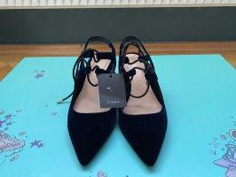 Zara Platform High-Heeled Sandal dark blue