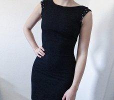 Zara enganliegendes Kleid Ornament schwarz