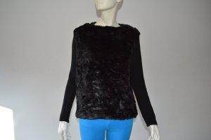 Zara Fake fur Pullover Gr. M schwarz wie neu