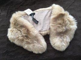 Zara Accesoires Écharpe ronde vieux rose-beige clair