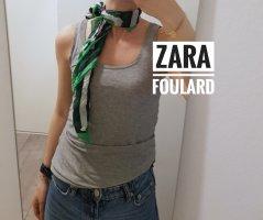 Zara Summer Scarf white-forest green