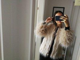 Zara Giacca in eco pelliccia bianco sporco crema