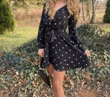 Zara Mini vestido negro-blanco