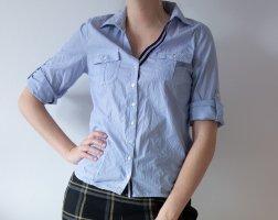 Zara gestreifte Bluse blau weiß Gr. M 38 NEU