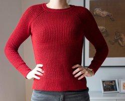 Zara gestrickter roter Pullover mit Knöpfen Gr. S/ M