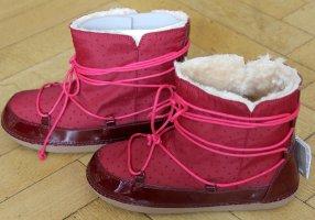Zara Futrzane buty magenta-purpurowy