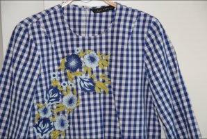 Zara Gr. XS / 34 36 Bluse Oberteil florales Muster Stickerei