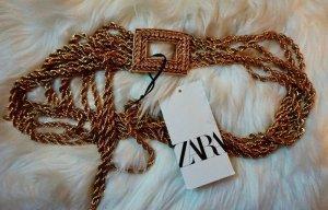 Zara Gürtel in Gold limitiert luxus  gr s.m