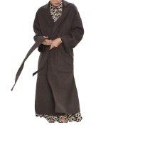Zara Wollen jas donkerbruin-bruin Alpacawol