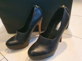 Zara Tacones de plataforma negro
