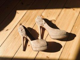 Zara high Heels mit Plateau und Peeptoe